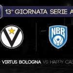 Game Preview, 13° Giornata Serie A: Segafredo Virtus Bologna-Happy Casa Brindisi