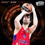 Milos Teodosic inserito nel 2010-20 All-Decade Team dell'EuroLega